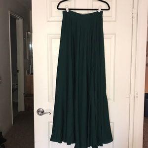 Emerald dressy long skirt with slit